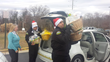 New Horizon Security Officer Smith, Beltran, Decarlo, Cruz and Geter helped deliver the baskets.