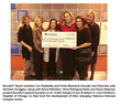 Bcureful Donates Second Check to Lurie Children's Hospital of Chicago for TSC Center.