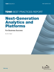 thumbnail image of the TDWI Best Practices Report on Next-Generation Analytics and Platforms