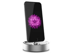 BEVL Dock in Silver with iPhone 6