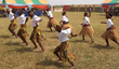Our students performing at the Muscial Village in Ada, Ghana