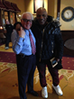 Russ Salvatore welcomed Mike Tyson to Russell's Steakhouse and Salvatore's Grand Hotel.