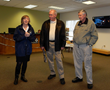 Becky McDonough welcomes guests to the Hopewell/Prince George Visitor Center with  Bill Robertson, chairman of the Prince George County Board of Supervisors, and  PG Board Member Jerry Skalsky.