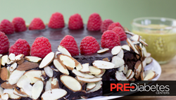 Healthy Holiday Egg Nog and Raspberry Chocolate Torte