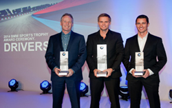 Tom Capizzi accepts award for BMW performance driver