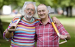 Mick Aston (Left) with Tony Robinson on Time Team.