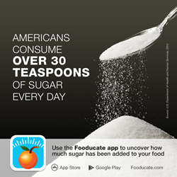 Fooducate App Shows You How Much Sugar is Added to Your Food
