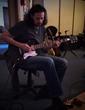 Bruce Kulick in the studio.