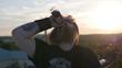 Guitarist/Tatoo Artist Dave McCormick drinking on set of Cruise Control Music Video.