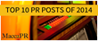 List of Top 10 PR and Marketing Posts of 2014 Released by...