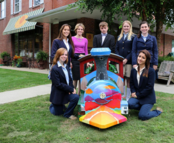 The Glenholme School artists and their train