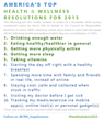 America's Top Health & Wellness Resolutions for 2015