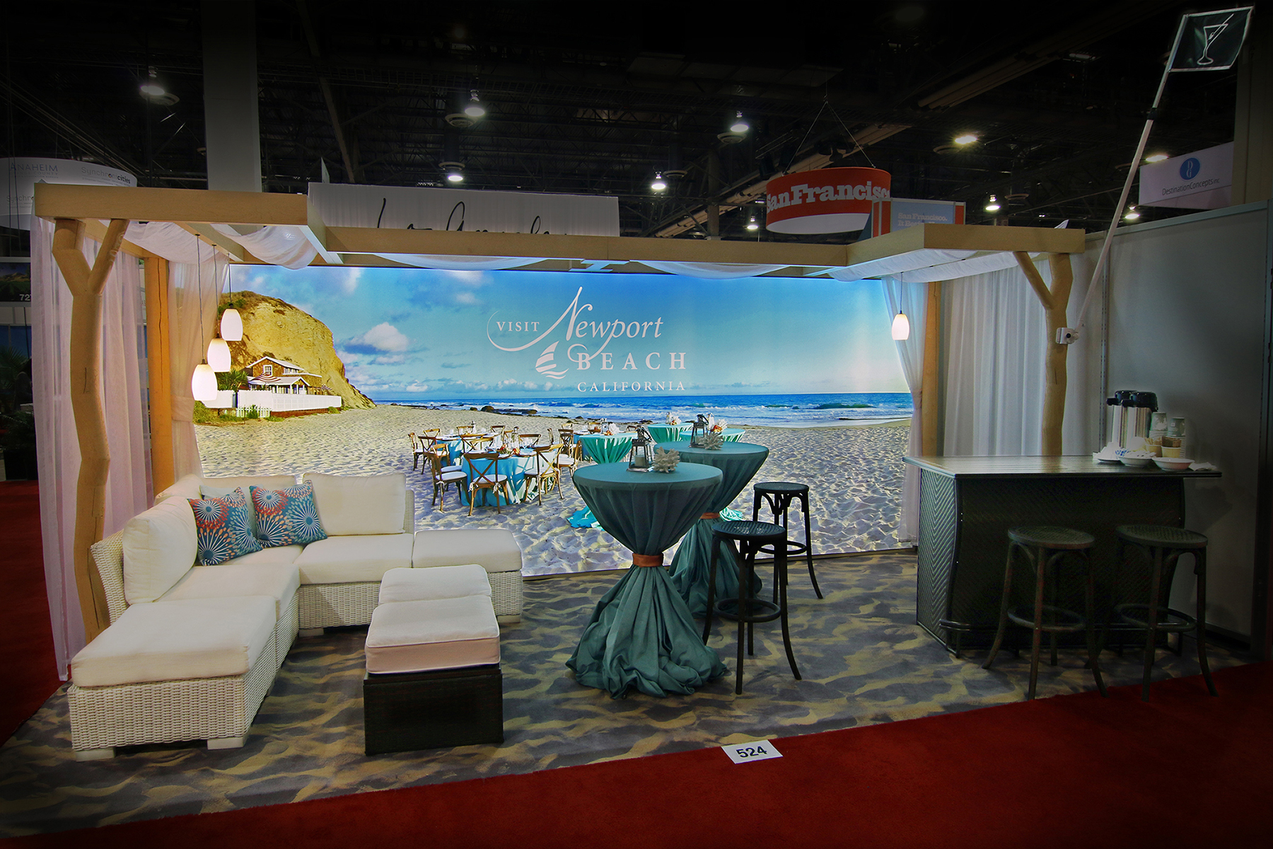 Exhibition Booth Concept : Visit newport beach inc made imex debut with premier
