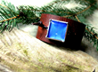 Men's Blue Butterfly Leather Cuff, from Debra's Divine Designs.