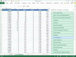 XLMiner Analysis ToolPak App for Excel Online