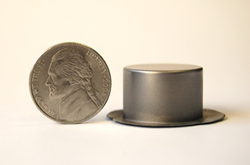 This part is smaller than a nickel and formed in a Triform Sheet Hydroforming Press