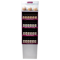 LorAnn Oils| Retail Display for Bakery Emulsions and Vanilla Extracts