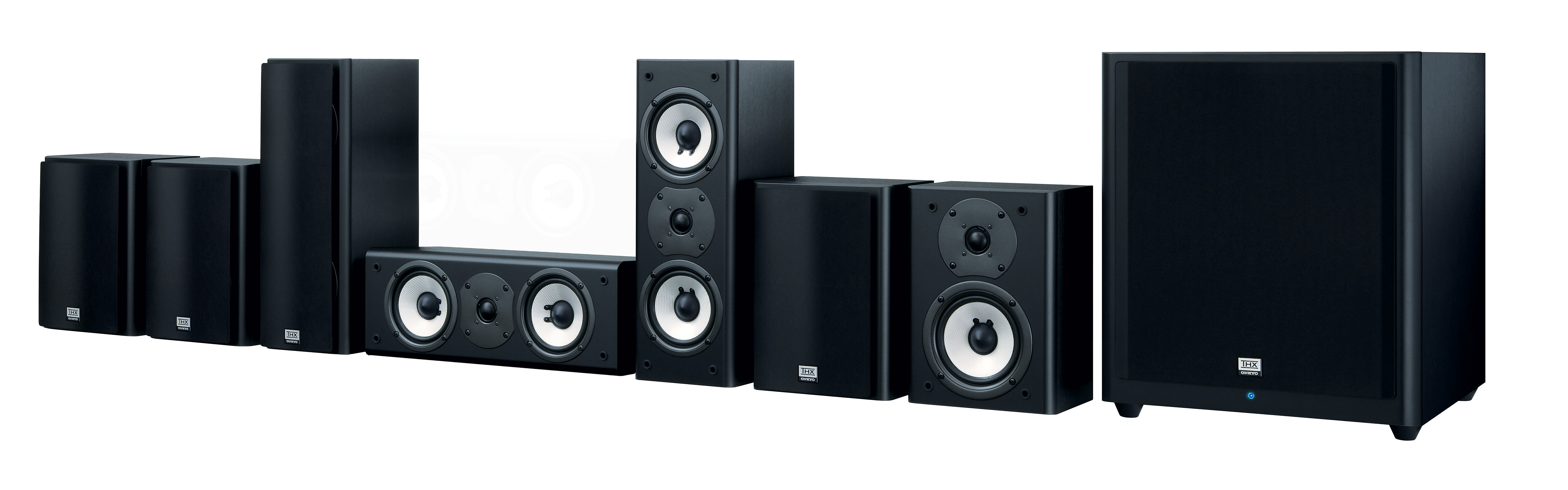 onkyo unveils thx certified 7 1 channel theater reference surround speaker package. Black Bedroom Furniture Sets. Home Design Ideas