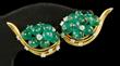 Cartier 18K Diamond and Emerald Earrings
