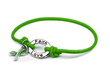 Green Stretch Charm Bracelet with Hope, Courage, Faith and Love