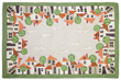 """Village Green"" is one of the new rug designs from Judith Reilly"