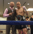 Abdallah with undefeated Muay Thai Champion, Kevin VanNostrand.