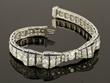 Lady's Platinum, Diamond, Sapphire Bow Bracelet
