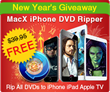 MacXDVD Rolls Out 2015 New Year Giveaway with MacX iPhone DVD Ripper