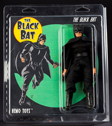 Black Bat Mego-style Action Figure created by Jay Piscopo