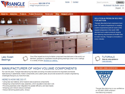 Triangle's new site works to give customers a fully-rounded experience, with education, tutorials, STEP files, downloads and product application stories.