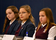 Contestants listening to the question in the Everest Academy National Geographic Society Geography Bee