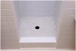 The existing tile surfaces have been completely refinished and the shower pan permanently sealed from leaks in just days and without any demolition or replacement of tile.