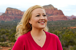 spiritual fiction author Rebecca Tinkle in Sedona AZ