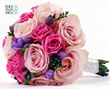 Wedding colour schemes and ideas for 2015 Blue Waterermelon Pink Violet Purple Summer wedding flowers