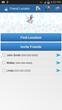 Home screen of friend locator app