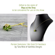 Peridot Necklace by Starletta Designs as seen on Days of Our Lives
