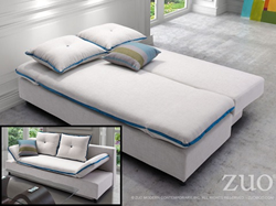 Serenity Sleeper Sofa in Natural with Blue Piping 900648 from Zuo Modern
