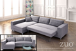 Roxboro Sleeper Sectional In Gray 900653 from Zuo Modern