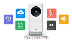 iSmartAlarm's new iCamera KEEP, with HD video, motion and sound detection, and free on-demand streaming video and cloud video storage