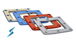 Combination EMI Shielding Gaskets produced from Cellular Silicone and...