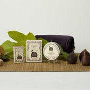 California Mission Fig & Honey bath and spa products from Three Sisters Apothecary, as gifted and on display at GBK's 2015 Golden Globes Celebrity Gift Lounge.