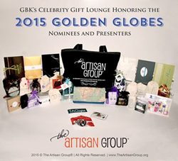 The Artisan Group Swag Bag as prepared for GBK's 2015 Golden Globes Celebrity Gift Lounge.