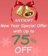Anvsoft Offers New Year Special Offers with Up to 75% Off for its Hot Media Converter Programs
