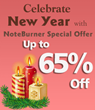 NoteBurner New Year Special Offer with Up to 65% Off on iTunes DRM...