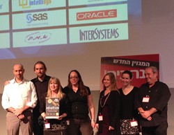 Picture of SPREO & Clalit Health Services Representatives Accepting IT Innovation Award