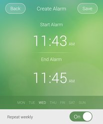 Ringer Control app creates reminders for muting and unmuting notification sounds.