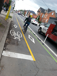 Cyclist on Hamilton Cycle Track