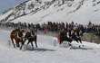 Horses pull snow chariots in the popular cutter racing event at Jackson Hole's 10-day annual WinterFest celebration. (Photo: Jackson Hole Chamber of Commerce)