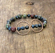 Hammered Double Circle Bracelet from SassyBelleWares,