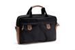The Bolt Briefcase—large, black ballistic nylon with grizzly leather accents